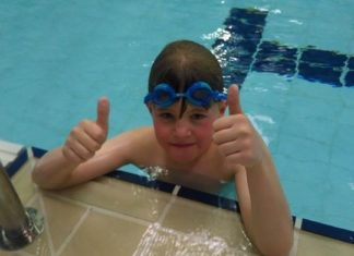 Emmerdale's Alfie Clarke swims for Dementia charity