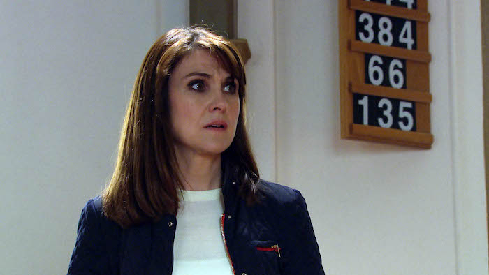 Gabby Thomas 'haunts' Emma Barton leaving her suspicious as to who might be messing with her.