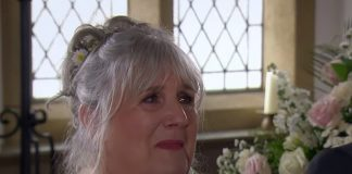 Lisa Dingle on her wedding day