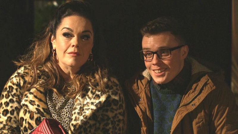 Mandy Dingle returns to Emmerdale with son Vinny