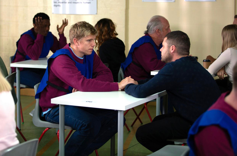 Robert Sugden and Aaron Dingle final scenes